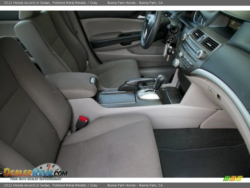2012 Honda Accord LX Sedan Polished Metal Metallic / Gray Photo #16