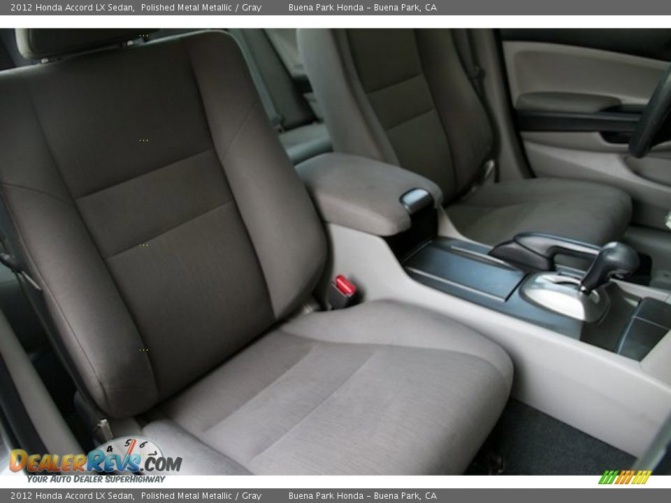 2012 Honda Accord LX Sedan Polished Metal Metallic / Gray Photo #17