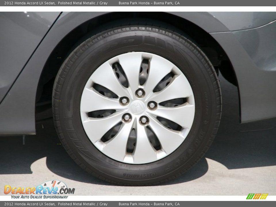 2012 Honda Accord LX Sedan Polished Metal Metallic / Gray Photo #24