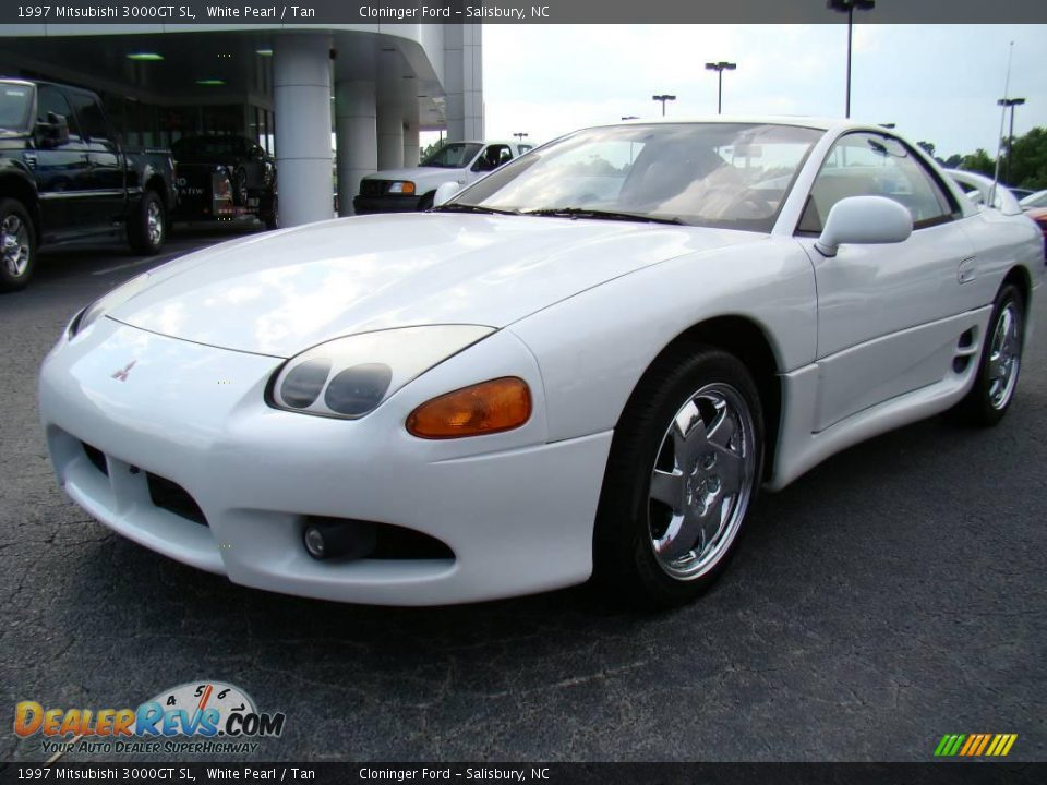 New Mitsubishi 3000gt >> 1997 Mitsubishi 3000GT SL White Pearl / Tan Photo #6 | DealerRevs.com
