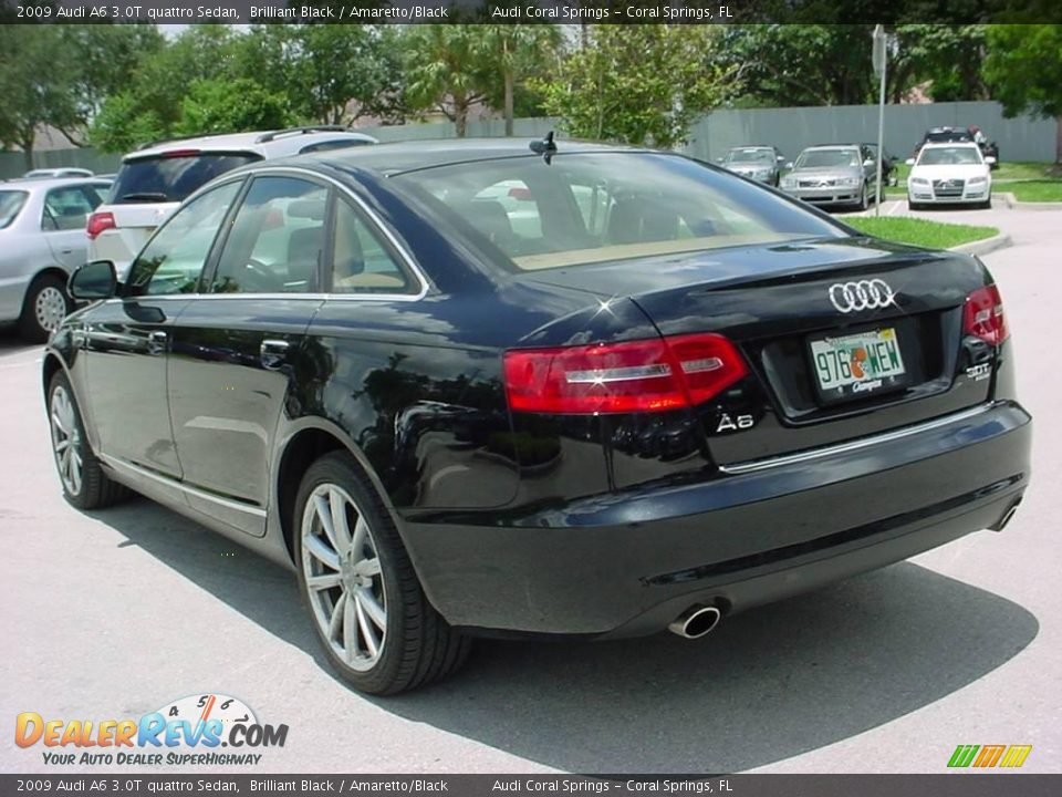 2009 Audi A6 3.0T quattro Sedan Brilliant Black / Amaretto/Black Photo ...