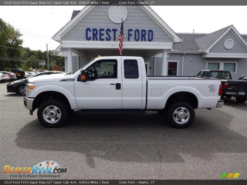 2016 Ford F350 Super Duty XLT Super Cab 4x4 Oxford White / Steel Photo #4