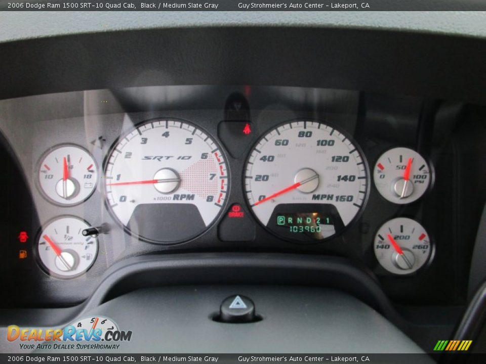 2006 Dodge Ram 1500 SRT-10 Quad Cab Gauges Photo #13