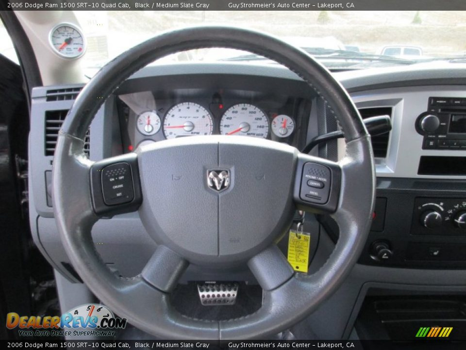 2006 Dodge Ram 1500 SRT-10 Quad Cab Steering Wheel Photo #14