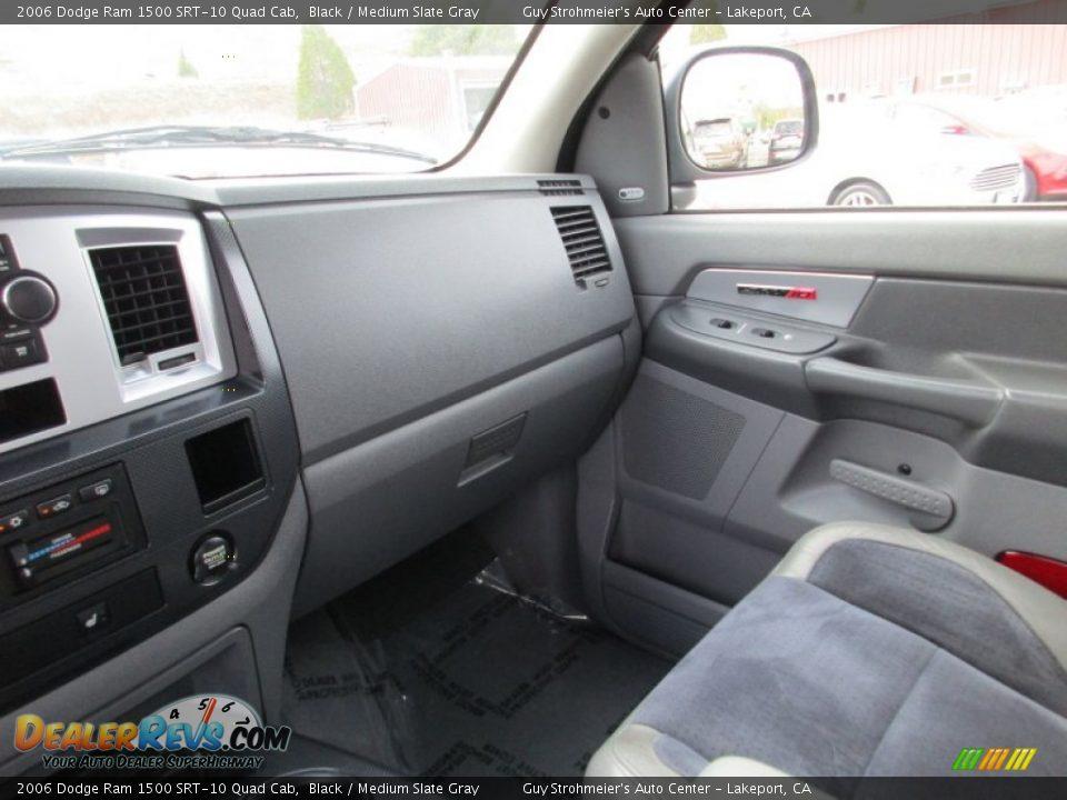 2006 Dodge Ram 1500 SRT-10 Quad Cab Black / Medium Slate Gray Photo #16