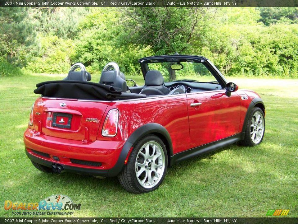Used Mini Cooper Convertible >> 2007 Mini Cooper S John Cooper Works Convertible Chili Red / Grey/Carbon Black Photo #5 ...