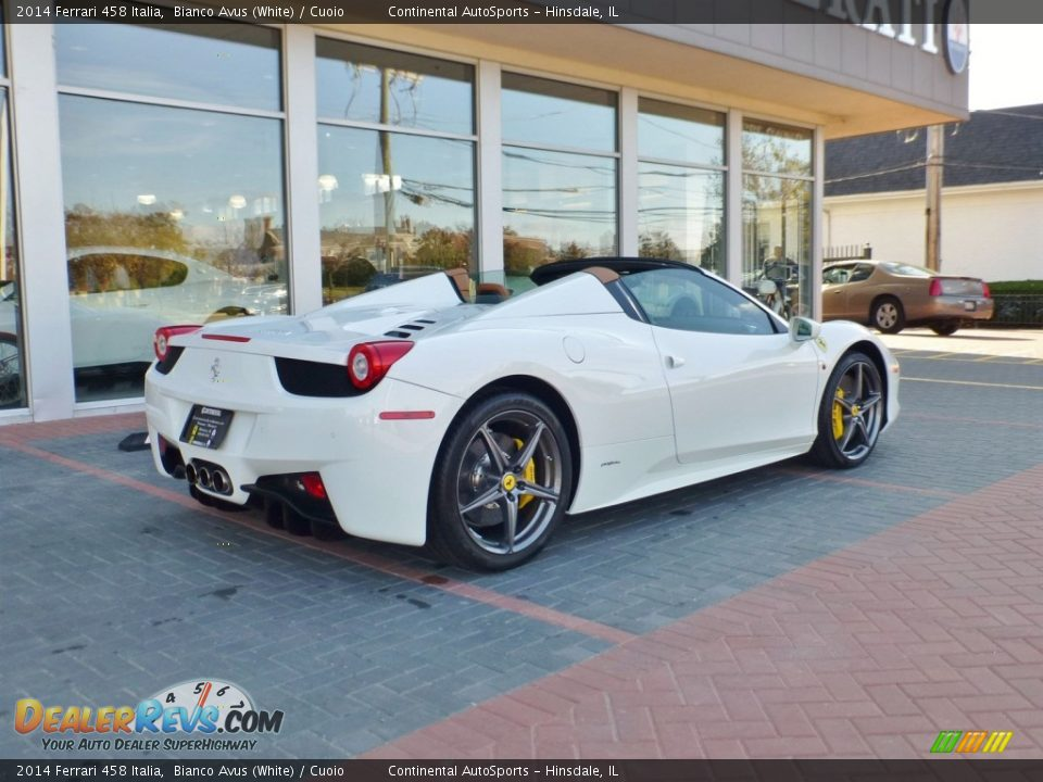 2014 Ferrari 458 Italia Bianco Avus (White) / Cuoio Photo #3