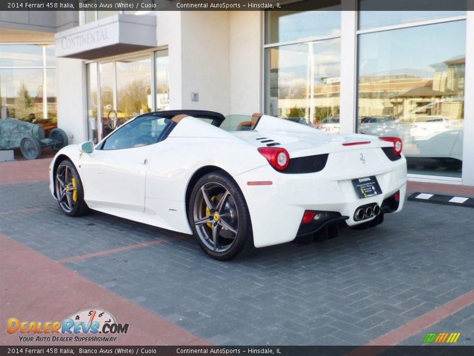 2014 Ferrari 458 Italia Bianco Avus (White) / Cuoio Photo #10
