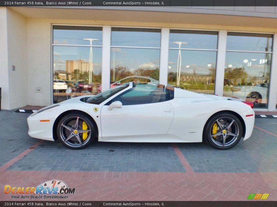 2014 Ferrari 458 Italia Bianco Avus (White) / Cuoio Photo #11