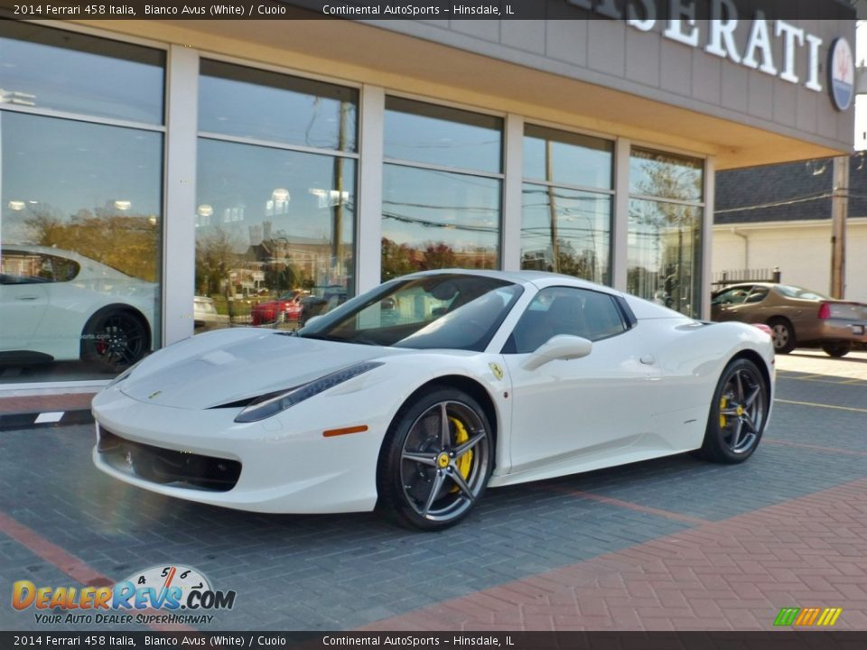 2014 Ferrari 458 Italia Bianco Avus (White) / Cuoio Photo #15