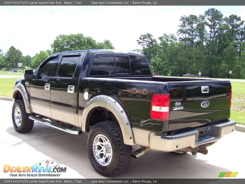 2004 ford f150 lariat supercrew 4x4 black tan photo 5. Black Bedroom Furniture Sets. Home Design Ideas