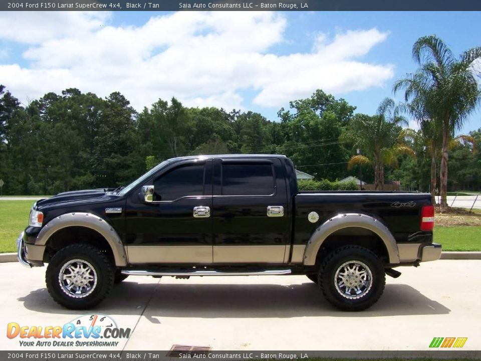 2004 ford f150 lariat supercrew 4x4 black tan photo 6. Black Bedroom Furniture Sets. Home Design Ideas