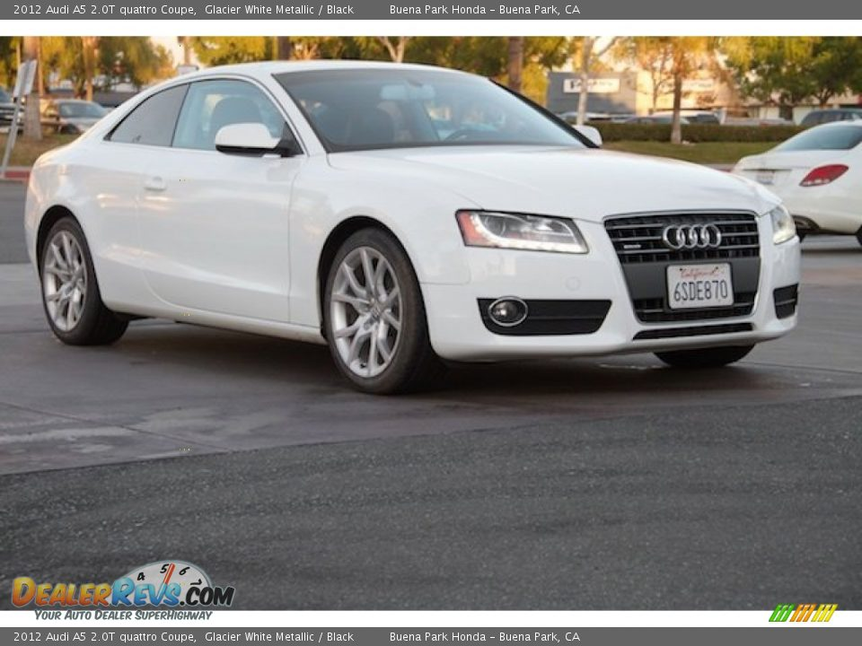 2012 Audi A5 2.0T quattro Coupe Glacier White Metallic / Black Photo #1