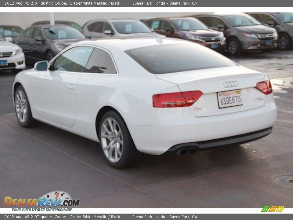 2012 Audi A5 2.0T quattro Coupe Glacier White Metallic / Black Photo #2