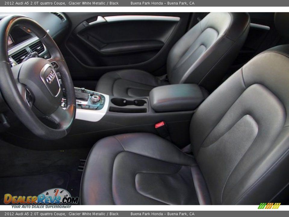 2012 Audi A5 2.0T quattro Coupe Glacier White Metallic / Black Photo #3