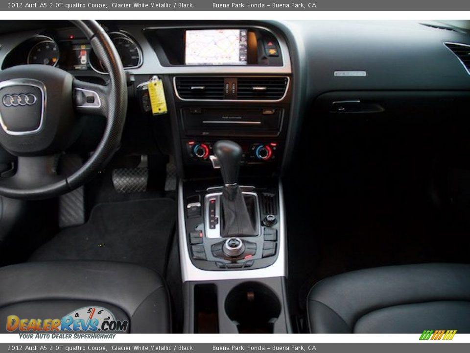 2012 Audi A5 2.0T quattro Coupe Glacier White Metallic / Black Photo #5