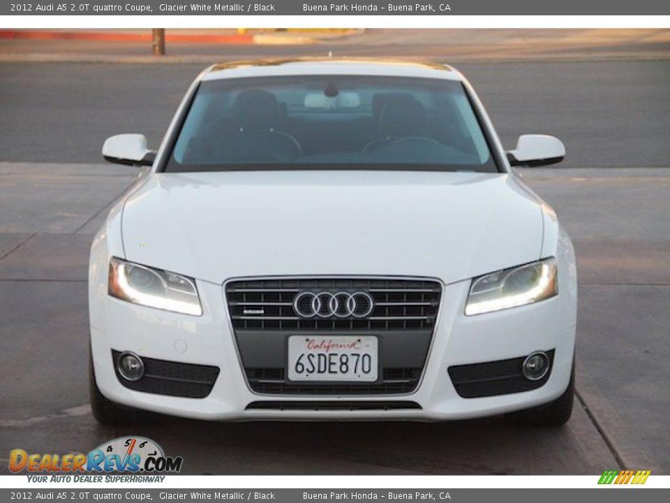 2012 Audi A5 2.0T quattro Coupe Glacier White Metallic / Black Photo #7