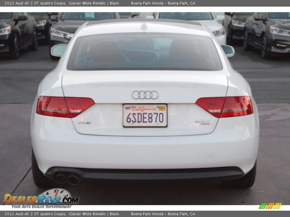2012 Audi A5 2.0T quattro Coupe Glacier White Metallic / Black Photo #10