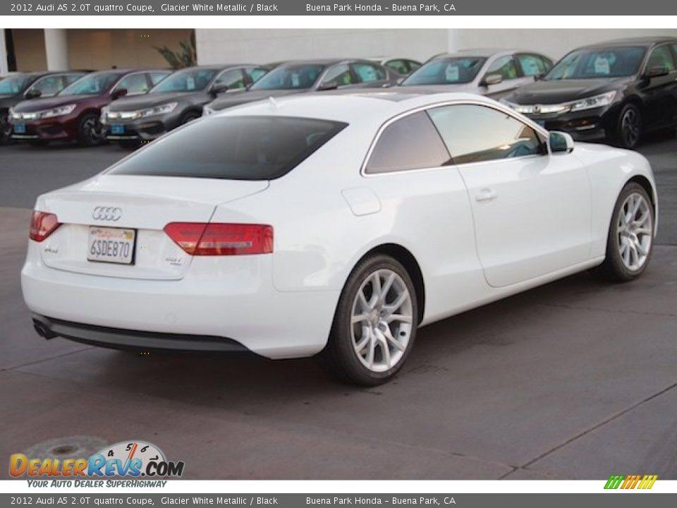 2012 Audi A5 2.0T quattro Coupe Glacier White Metallic / Black Photo #11