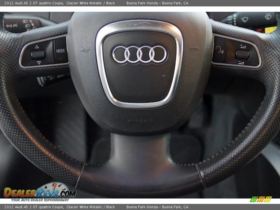2012 Audi A5 2.0T quattro Coupe Glacier White Metallic / Black Photo #13