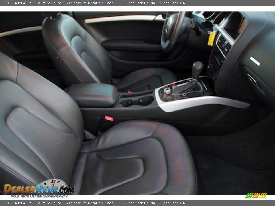 2012 Audi A5 2.0T quattro Coupe Glacier White Metallic / Black Photo #16