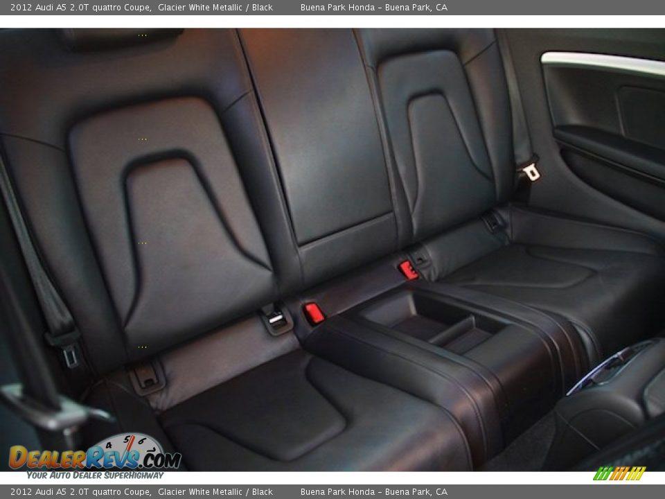 2012 Audi A5 2.0T quattro Coupe Glacier White Metallic / Black Photo #17