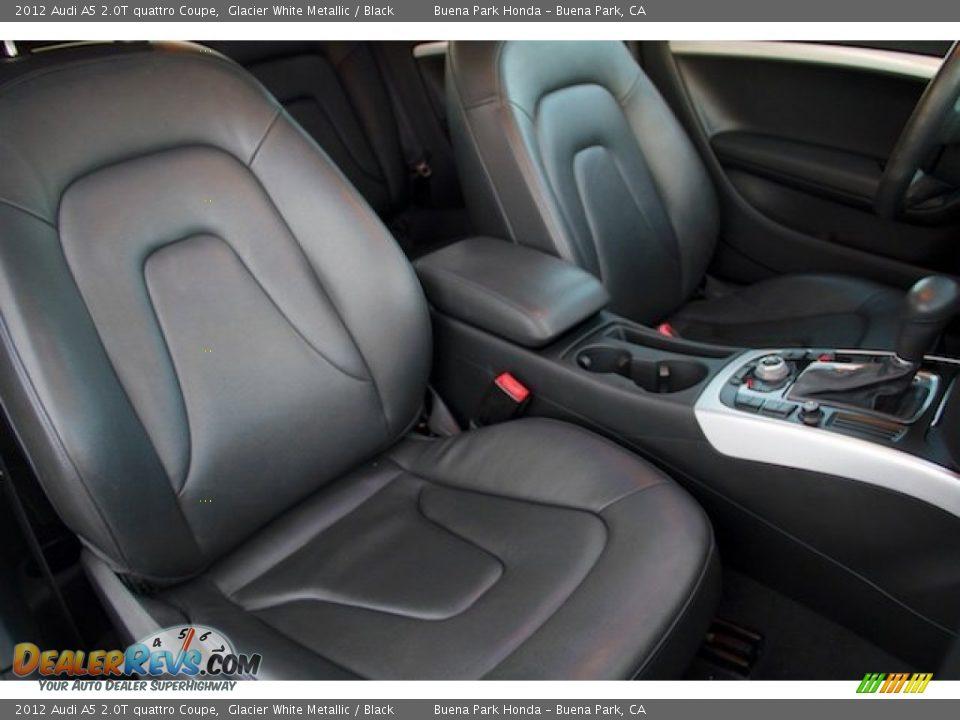 2012 Audi A5 2.0T quattro Coupe Glacier White Metallic / Black Photo #18