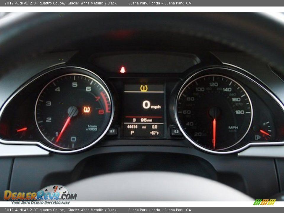 2012 Audi A5 2.0T quattro Coupe Glacier White Metallic / Black Photo #20