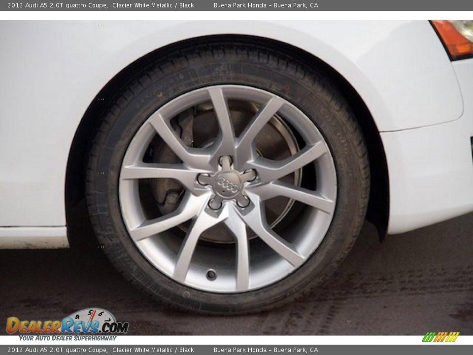 2012 Audi A5 2.0T quattro Coupe Glacier White Metallic / Black Photo #24