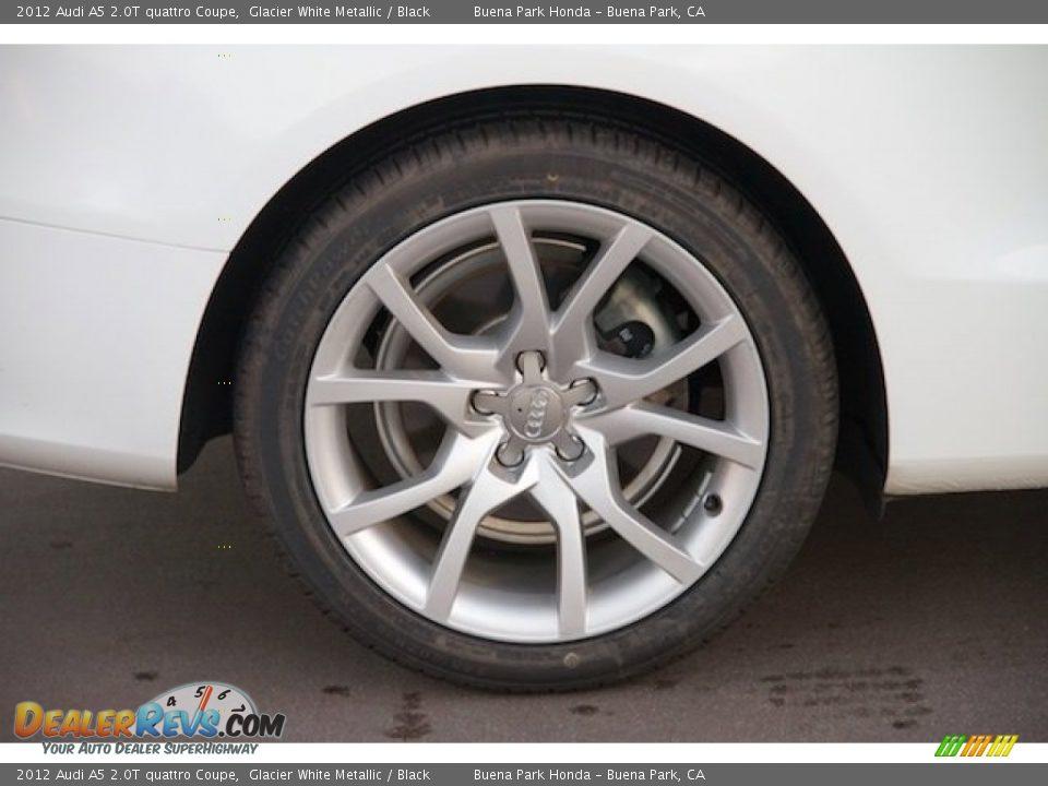 2012 Audi A5 2.0T quattro Coupe Glacier White Metallic / Black Photo #25