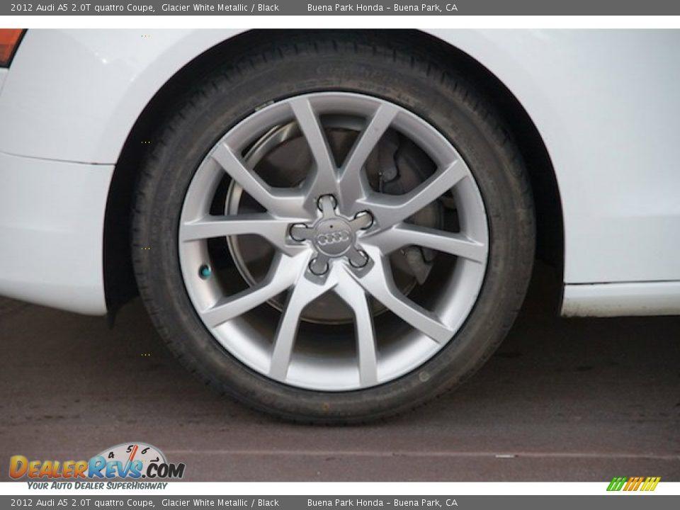 2012 Audi A5 2.0T quattro Coupe Glacier White Metallic / Black Photo #26