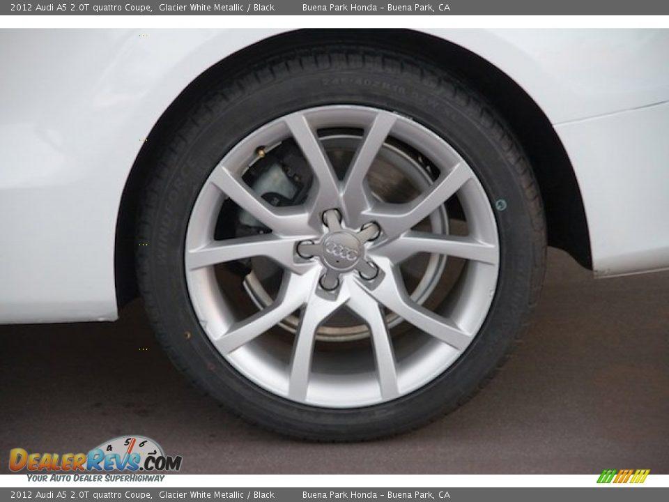 2012 Audi A5 2.0T quattro Coupe Glacier White Metallic / Black Photo #27