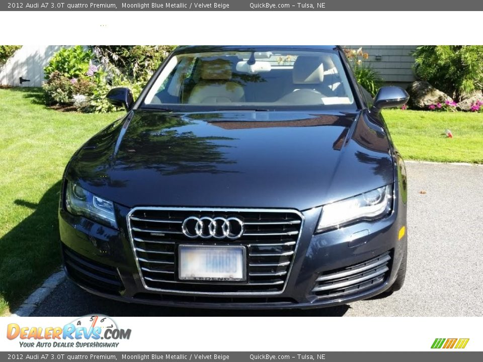 2012 Audi A7 3.0T quattro Premium Moonlight Blue Metallic / Velvet Beige Photo #1