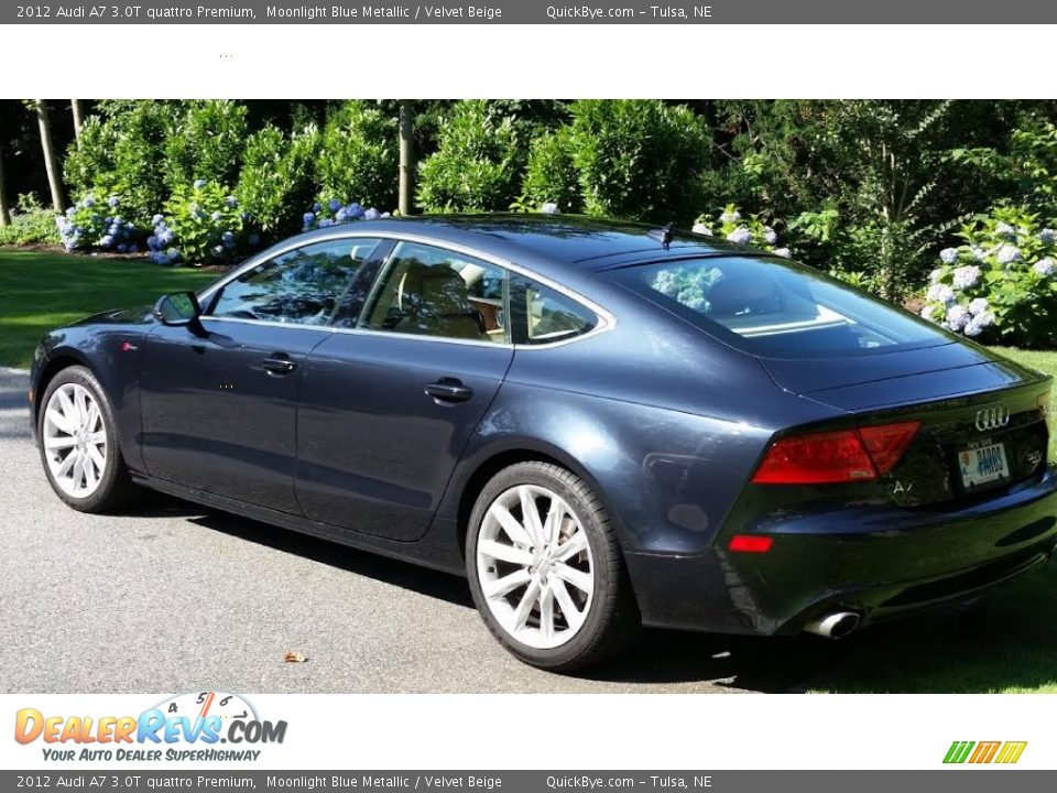 2012 Audi A7 3.0T quattro Premium Moonlight Blue Metallic / Velvet Beige Photo #6