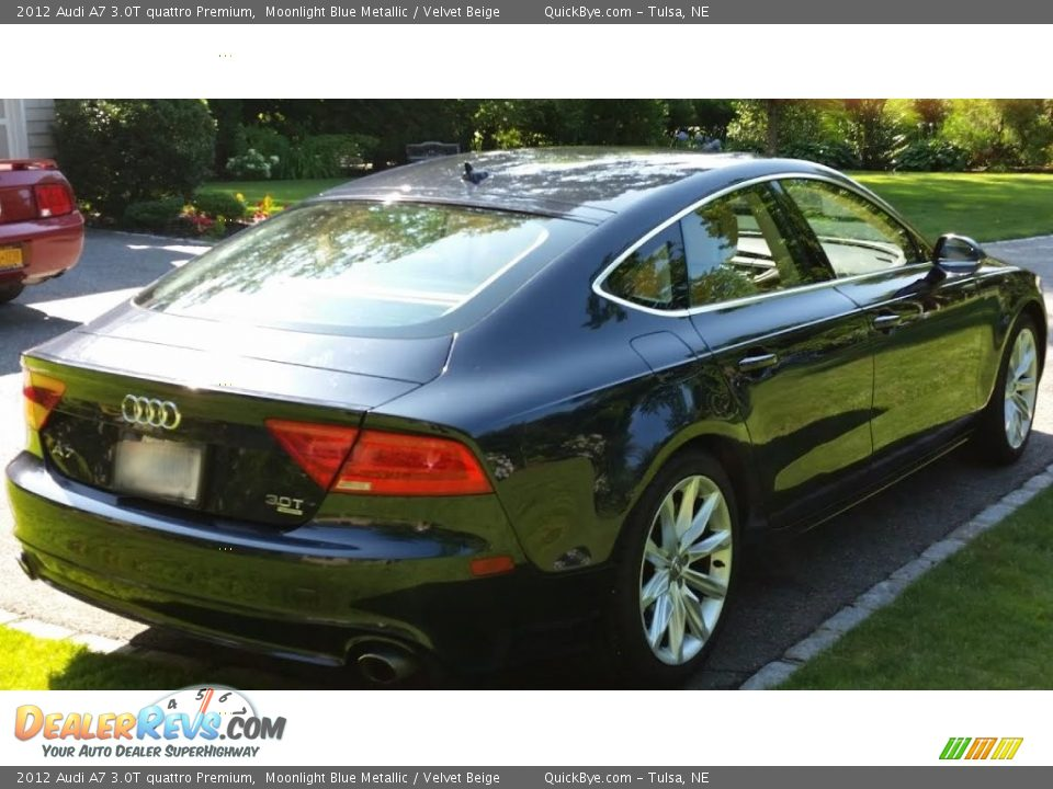 2012 Audi A7 3.0T quattro Premium Moonlight Blue Metallic / Velvet Beige Photo #7