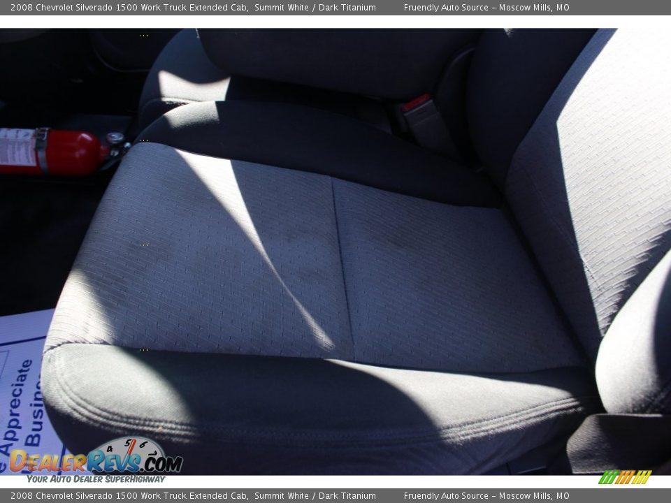 2008 Chevrolet Silverado 1500 Work Truck Extended Cab Summit White / Dark Titanium Photo #9