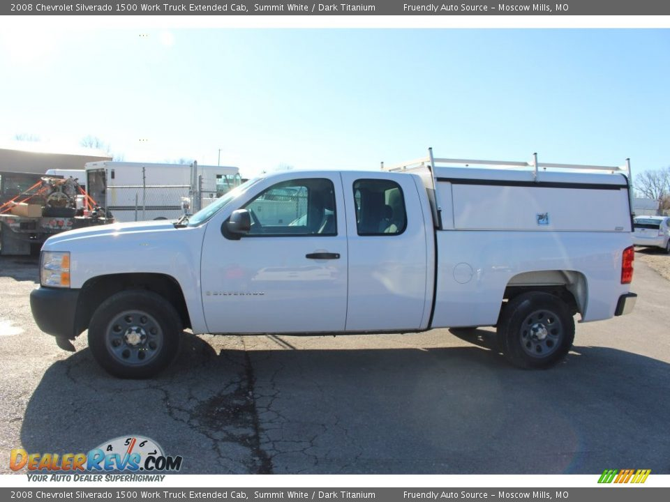 2008 Chevrolet Silverado 1500 Work Truck Extended Cab Summit White / Dark Titanium Photo #12