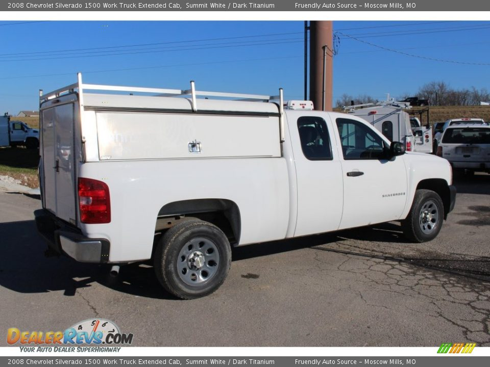 2008 Chevrolet Silverado 1500 Work Truck Extended Cab Summit White / Dark Titanium Photo #17