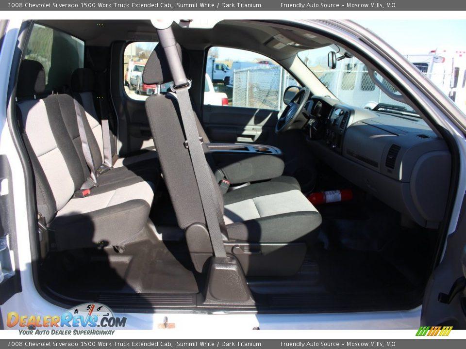 2008 Chevrolet Silverado 1500 Work Truck Extended Cab Summit White / Dark Titanium Photo #22