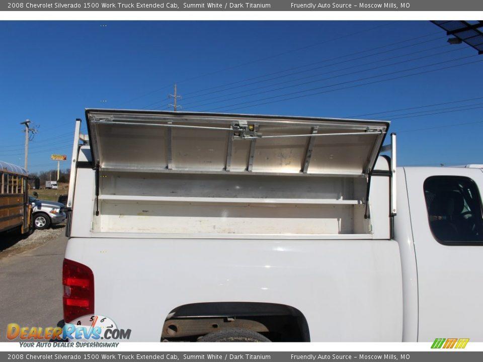 2008 Chevrolet Silverado 1500 Work Truck Extended Cab Summit White / Dark Titanium Photo #26
