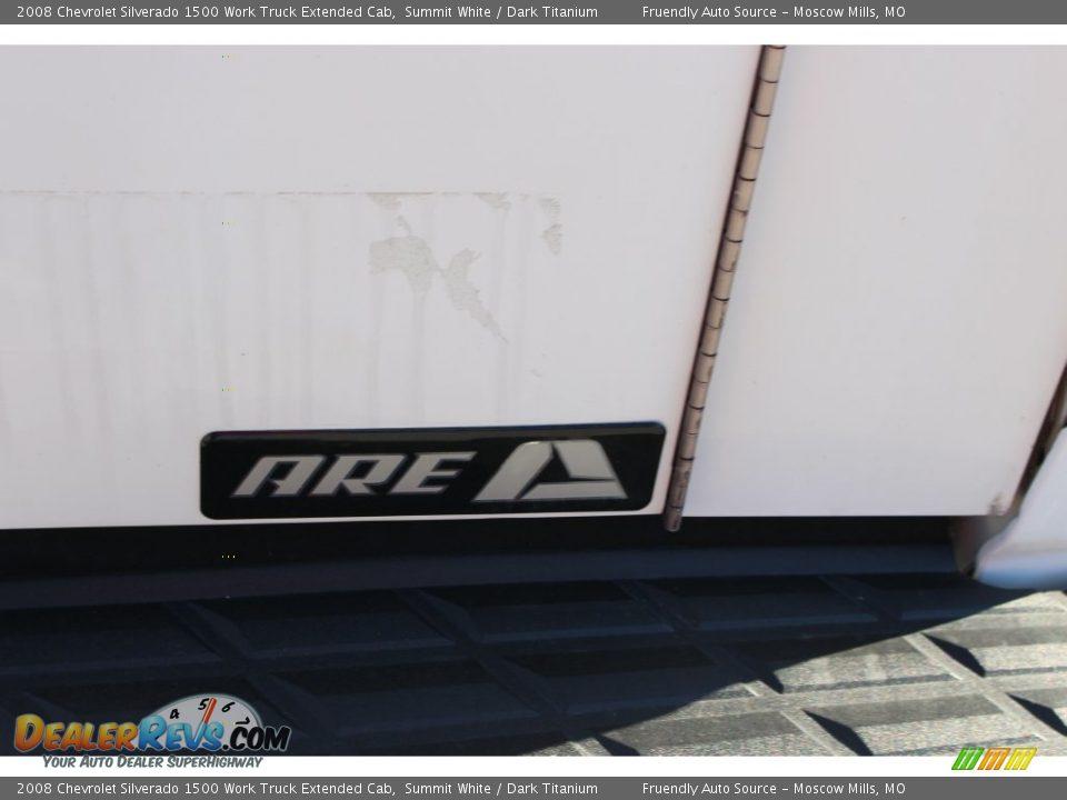 2008 Chevrolet Silverado 1500 Work Truck Extended Cab Summit White / Dark Titanium Photo #28