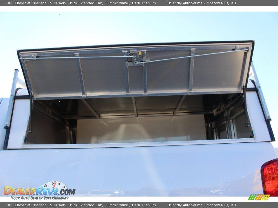 2008 Chevrolet Silverado 1500 Work Truck Extended Cab Summit White / Dark Titanium Photo #33