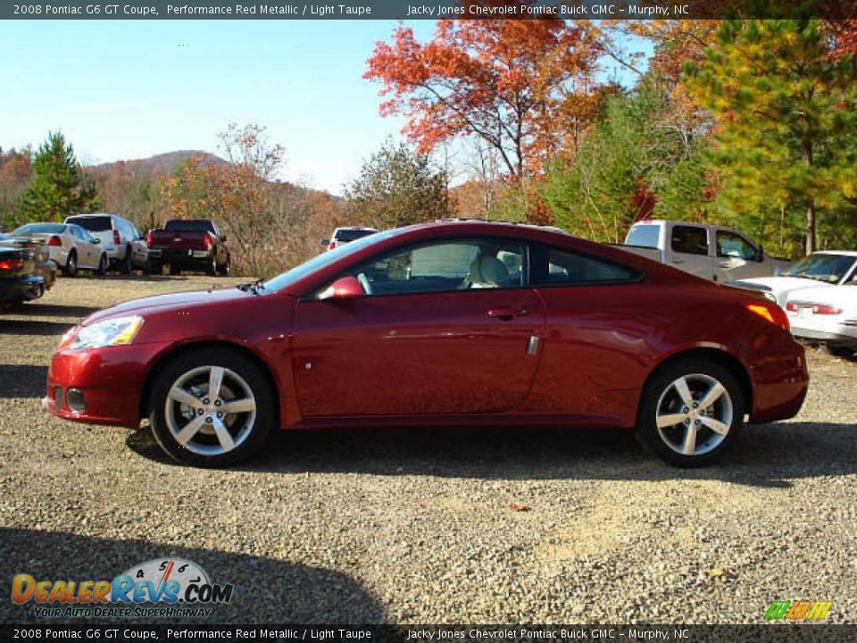 2008 Pontiac G6 Gt Coupe Performance Red Metallic Light