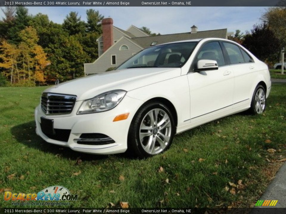 2013 Mercedes-Benz C 300 4Matic Luxury Polar White / Almond Beige Photo #1