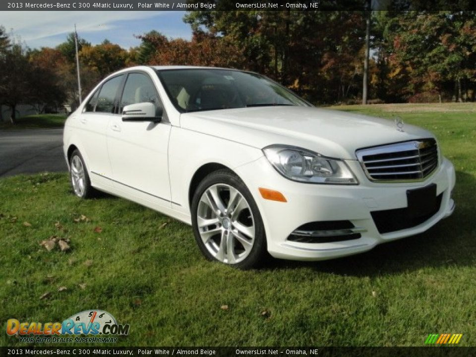 2013 Mercedes-Benz C 300 4Matic Luxury Polar White / Almond Beige Photo #2