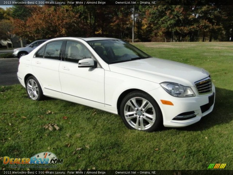 2013 Mercedes-Benz C 300 4Matic Luxury Polar White / Almond Beige Photo #3