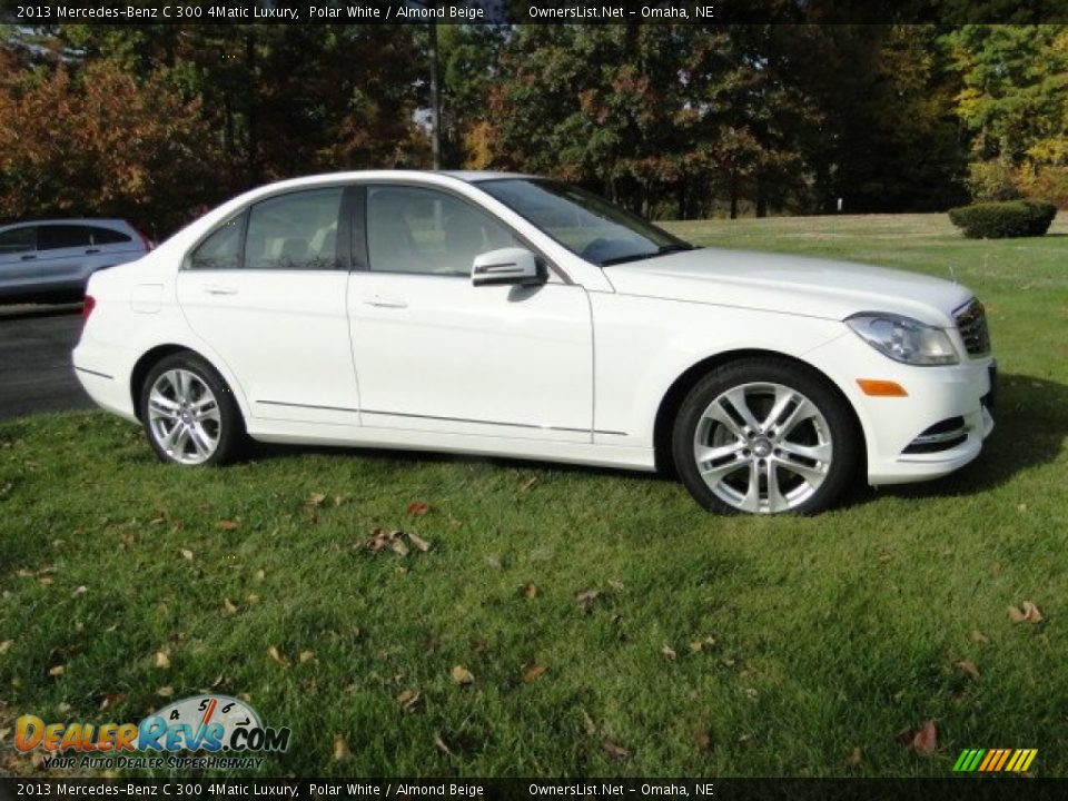 2013 Mercedes-Benz C 300 4Matic Luxury Polar White / Almond Beige Photo #4