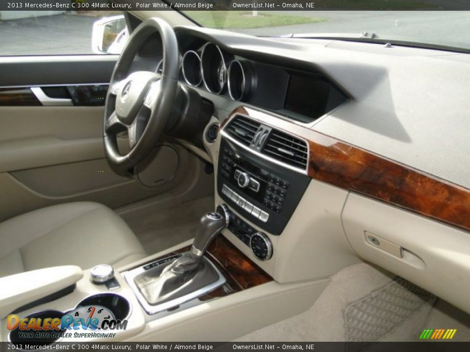 2013 Mercedes-Benz C 300 4Matic Luxury Polar White / Almond Beige Photo #9