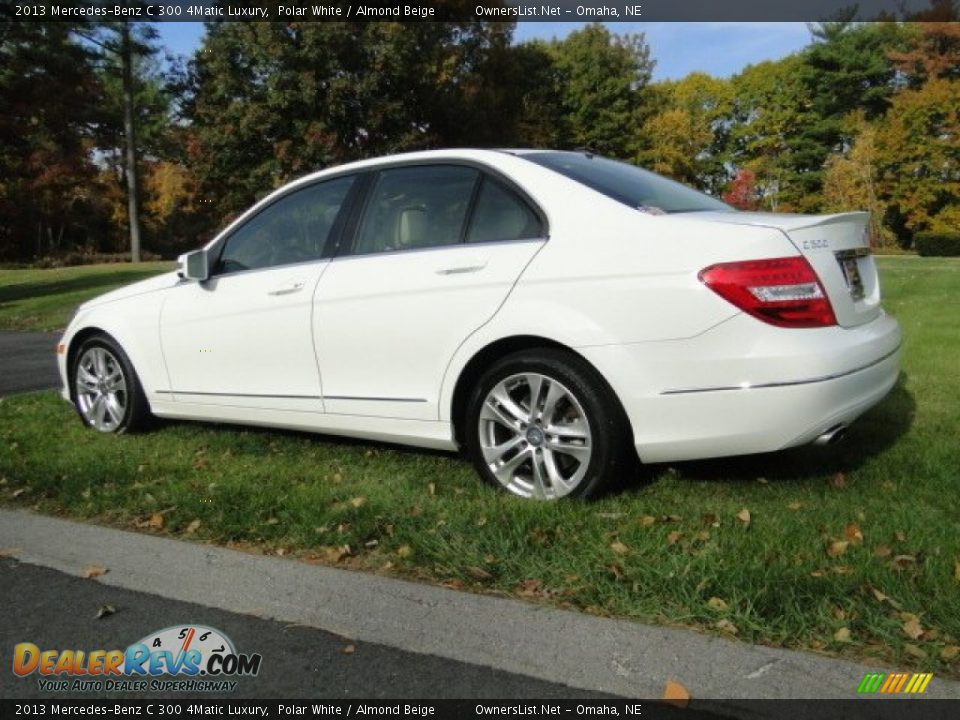 2013 Mercedes-Benz C 300 4Matic Luxury Polar White / Almond Beige Photo #14