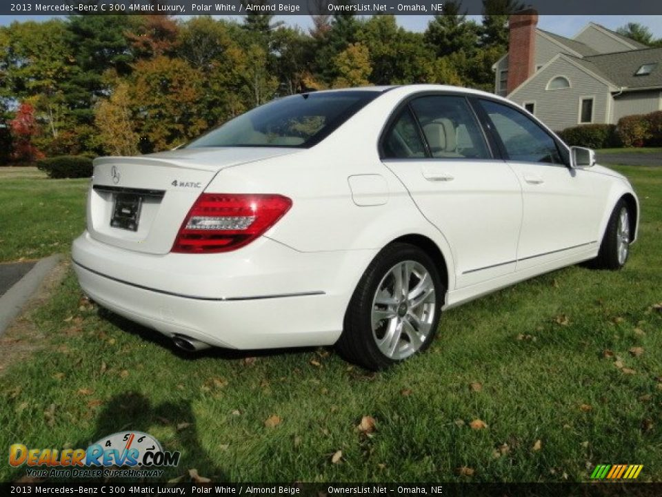 2013 Mercedes-Benz C 300 4Matic Luxury Polar White / Almond Beige Photo #16